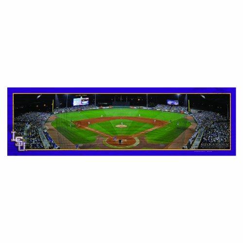 NCAA Louisiana State Fightin Tigers Panoramic Baseball Stadium View Wood Sign, 9 x - Louisiana Stadium Tigers State
