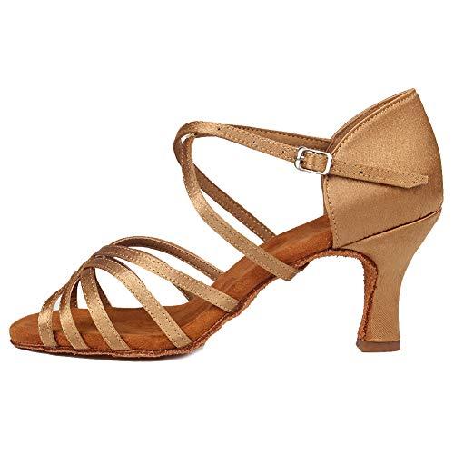 WZJ Ballroom Cl Marrón Claro 7cm Dancing HIPPOSEUS Dance Shoes Shoes Model Women's Latin qR84w8Fa