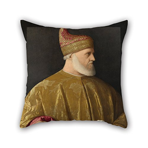 Oil Painting Vincenzo Catena - Portrait Of The Doge, Andrea Gritti Throw Pillow Covers Best For Boys Dance Room Him Indoor Husband Deck Chair 20 X 20 Inches / 50 By 50 Cm(twin Sides)