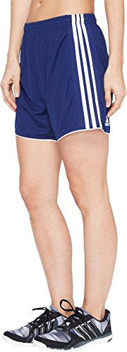 adidas Women's Soccer Tastigo 17 Shorts, Dark Blue/White, Large