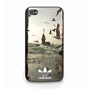 Adidas Logo Phone Funda,Adidas Design iPhone 4/iPhone 4S Skin Hard Plastic Skin,For iPhone 4/iPhone 4S Cover Adidas Phone Funda