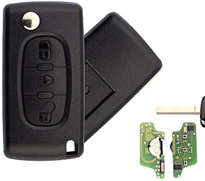 For CITROEN C3 C4 C5 C6 PICASSO 3 Button Light Lamp Remote Key  433Mhz CE0523