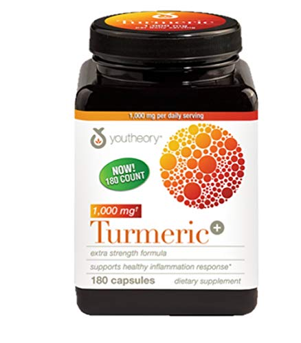 (Youtheory Turmeric Extra Strength Formula Capsules 1,000 mg per Daily, 180 Count (Pack of 1))