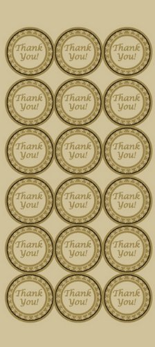 Geographics Thank You Seals, 1.25 Inches dia., Gold Foil, 54 Pack (48480) - Foil Geographics