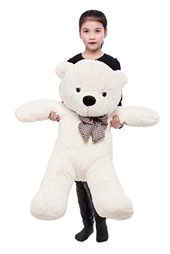 39'' Soft 100% Pp Cotton Toy Giant 100cm BIG Cute White Plush Teddy Bear Huge by Lanna Siam