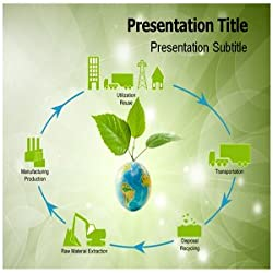 Product Life Cycle Green PowerPoint Template - Product Life Cycle Green PPT Templates - Templates on Product Life Cycle Green