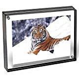 New 2013 Color The original acrylic MAGNET FRAME with Graphite Edge by Canetti 4x6