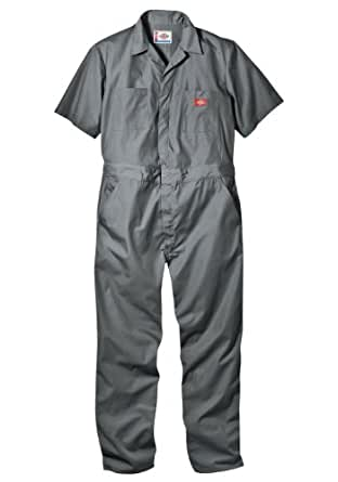 Dickies Men's Short Sleeve Coverall Xlt Grey