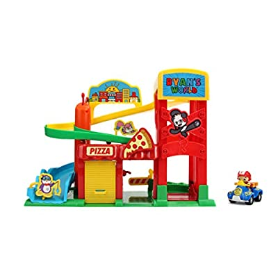 Jada Toys Ryan's World Racers Track Set with Exclusive Vehicle: Toys & Games