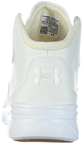 Under Armour UA W Charged Pivot Mid Cnvs, Scarpe Running Donna Bianco (Ivory 100)