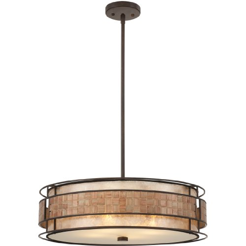 Large Circular Pendant Light - 2