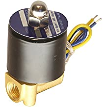 "HFS 110v Ac or 12v Dc Electric Solenoid Valve Water Air Gas, Fuels N/c - 1/4"", 1/2"", 3/4"", 1"" NPT Available (12V DC 1/4"" NPT)"