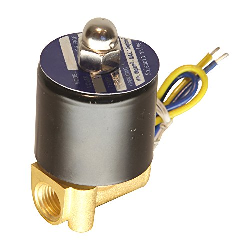 HFS 110v Ac or 12v Dc Electric Solenoid Valve Water Air Gas, Fuels N/c - 1/4, 1/2, 3/4, 1 NPT Available (110V AC 1/4 NPT)