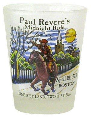 Boston Paul Revere Historical Shot Glass World By Shotglass paulrevere