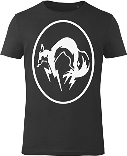 GOZOO Metal-Gear-Solid T-Shirt Herren Mgs Fox Black/white 100% Baumwolle Schwarz