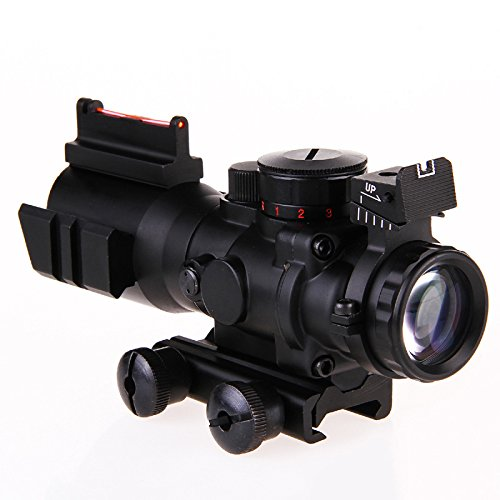 Tsptool 4X Reflex Optics Riflescope Tactical Sight for Hunting Rifle Magnifier Aimpoint (Trophy 1x28 Red Dot Sight)