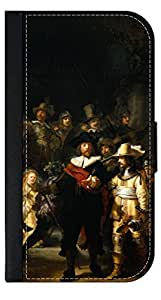Rembrant Van Rijn's The Night Watch - Wallet Style Flip Phone Case Compatible with the Apple iPhone 4/4s/5/5s/5c/6/6s/6+/6s+/7/7+/8/8+ Select Your Compatible Phone Model