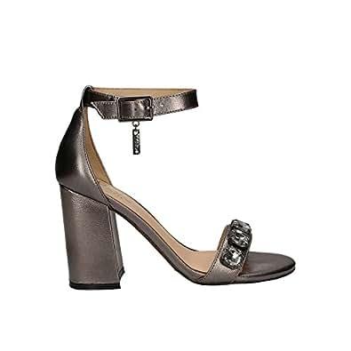 Liu Jo SANDAL S12067 T0380 - Sandalias de vestir de satén para mujer, color negro, talla 37