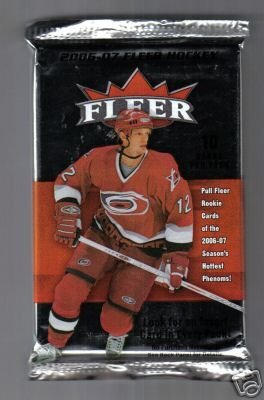 2006 /07 Upper Deck Fleer Hockey Cards Unopened Hobby Pack (10 cards per pack, rookies inserted 1 in 3 packs. 1 INSERT CARD PER PACK! Random Tiffany Collection Parallel Cards. 1 AUTOGRAPH or MEMORABILIA CARD PER BOX)