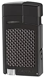 Xikar Forte Jet Flame Lighter - Black Carbon Fiber
