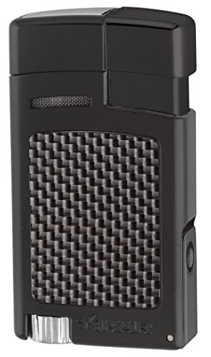 Xikar Forte Jet Flame Lighter - Black Carbon Fiber