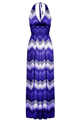 G2 Chic Women's Casual Trendy Spring Summer Maxi Dress(DRS-MAX,DBL-L)