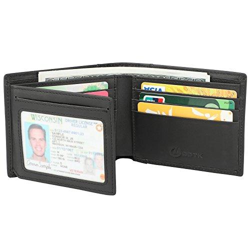 Men's Wallet - RFID Blocking Cowhide Leather Vintage Trifold...