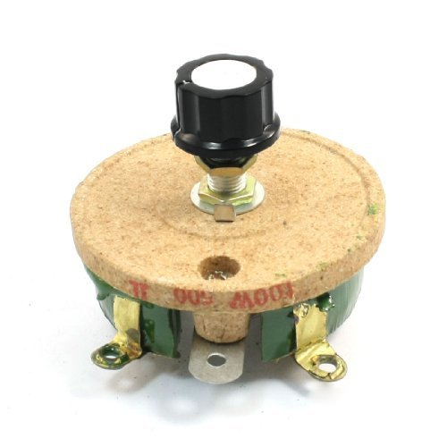 500 Ohm 100W DealMux Wire Wound Ceramic Potentiometer Variable Rheostat Resistor