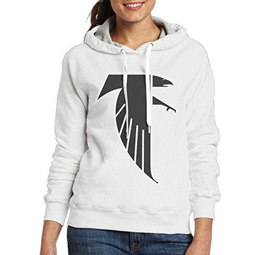 UFBDJF20 Atlanta Freddie Falcon Long Sleeve Hoodie For Women XXL White