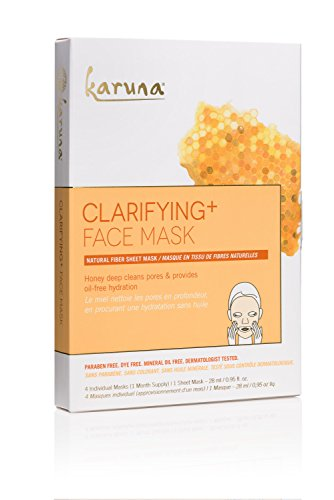 Karuna Clarifying + Face Mask, Pack of 4, 3.8 fl. oz.