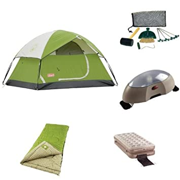 Coleman Sundome 2-Person Tent Starter Bundle  sc 1 st  Amazon.com : tent starter packages - memphite.com