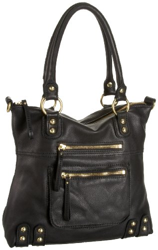 Linea Pelle  Dylan 40793 Medium Tote,Black,One Size