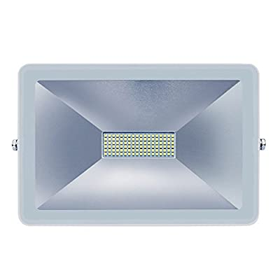 LED Flood Light Outdoor Super Bright Security Lights, 8000LM, Warm White(100W,2700-3500K), Waterproof Landscape Spotlight, Floodlight With 3-Prong US Plug