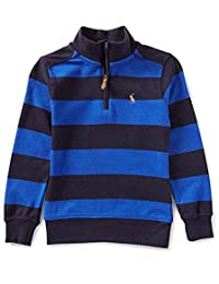 Ralph Lauren Polo Boys Striped Half Zip Cotton Pullover