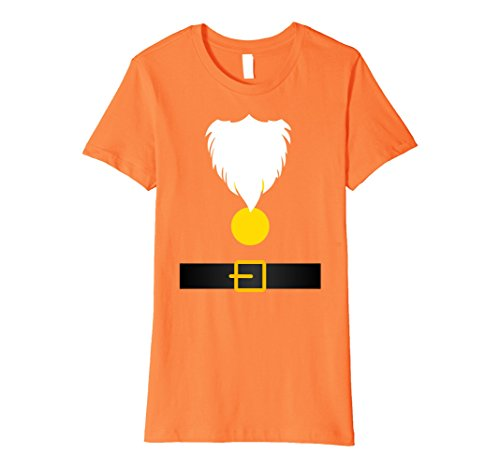 Costume Happy Halloween Dwarf (Womens Funny Dwarf Costume T-Shirt for Halloween or Christmas Large)