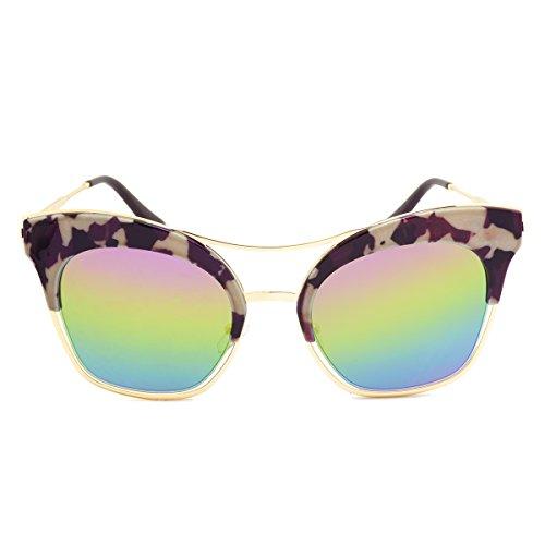 Dasein Fashion Women's Polarized Mirror Lens Cat-Eye Sunglasses w/ Case UV400 - Sunglasses Mirrors Smoke And Sale