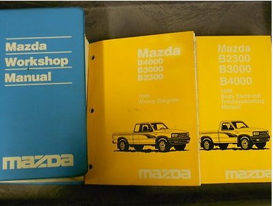 1996 Mazda B-Series Truck Service Repair Shop Manual SET OEM FACTORY BOOKS 96 (Service Manual, the Electrical Wiring Diagram Manual, and the Electrical Troubleshooting Manual.)