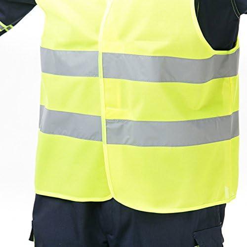 giubbotti di sicurezza alta visibilit/à Fluo Riflettente Giacca di sicurezza con YKK zip per esterna lavoro di sicurezza Oanyou Gilet di sicurezza