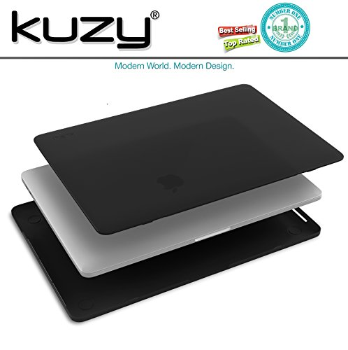 Kuzy MacBook Pro 15 Case 2018 2017 2016 Release A1990 A1707, Plastic Hard Shell Cover for NEWEST MacBook Pro 15 inch case with/without Touch Bar Soft Touch - BLACK by Kuzy (Image #6)