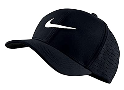 Nike Golf 2018 Aerobill Classic 99 Tour Perforated Fitted Men's Cap Hat, Black-White, Small-Medium from Nike