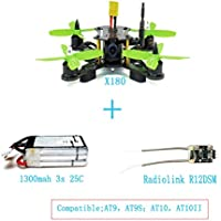 QWinout X180 DIY Quadcopter BNF Assembled Frame Kit with OSD FPV HD 700TVL CAM Mini RC Racing Drone with Radiolink R6DSM RX