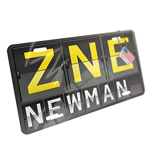 NEONBLOND ZNE Airport Code for Newman Aluminum License Plate