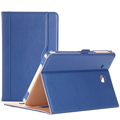 ProCase Samsung Galaxy Tab E 9.6 Case – Vintage Stand Folio Case Cover for Galaxy Tab E 9.6/ Tab E Nook 9.6-Inch Tablet (SM-T560 / T561 / T565 and SM-T567V Verizon 4G LTE Version) -Navy