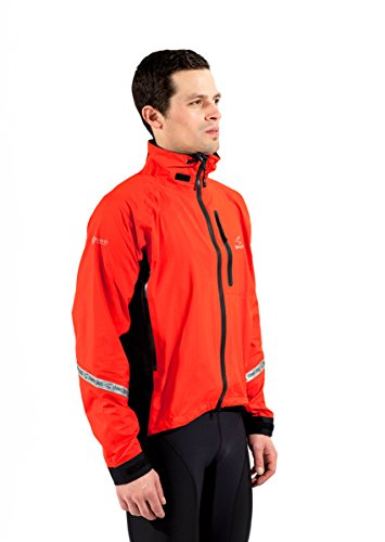 (Showers Pass Men's Waterproof Breathable Elite 2.1 Cycling Jacket (Cayenne Red - X-Large))