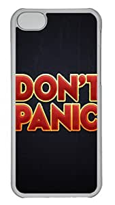 IMARTCASE iPhone 5C Case, Dont Panic PC Hard Case Cover for Apple iPhone 5C Transparent
