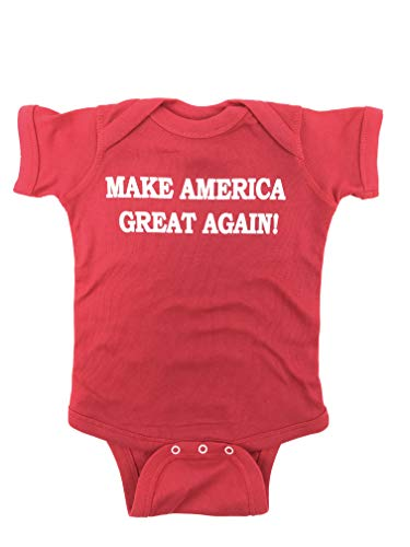 Donald Trump Make America Great Again Baby Bodysuit (Newborn, Red)