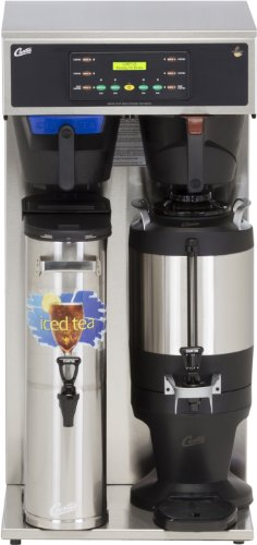 Wilbur Curtis G3 Combo Coffee Tea Brewer 3.5 Gallon Tea/1.5 Gallon Coffee, Twin Tea And Coffee Brewer - Commercial Combo Coffee Tea Brewer - CBHT (Each) by Wilbur Curtis