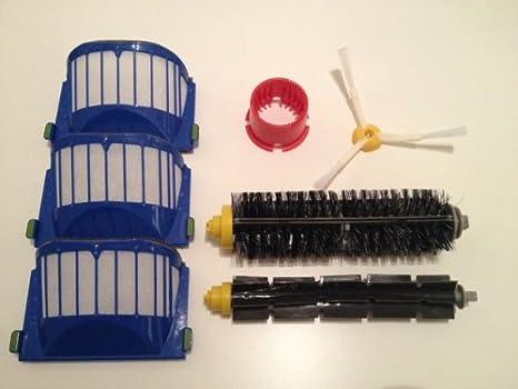 Kit recambios cepillos y filtros para iRobot Roomba 630, 650 ...