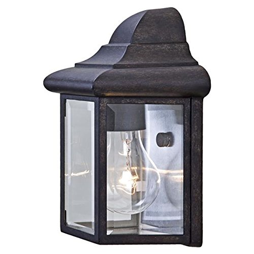 Acclaim 6001BC Pocket Lantern Collection 1-Light Wall Mount Outdoor Light Fixture, Black - Wall Mount Lantern Outdoor Black