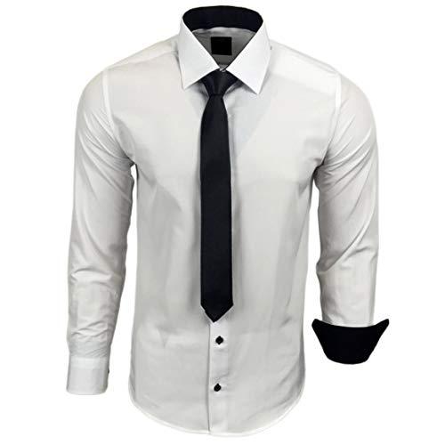 Rusty MatrimonioTempo nero kr Camicia R 44 Da Neal CravattaPer Bianco ContrastoCon Libero Uomo A OPiZTkXu
